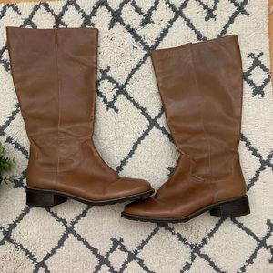 LL Bean | Brown Leather Tall Boots 8.5W